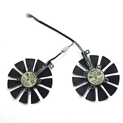 InRobert - Coppia di ventole di raffreddamento per scheda video ASUS serie Dual GTX 1070 1060