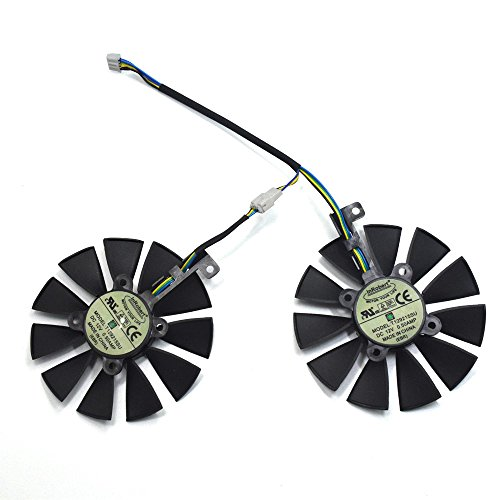 inRobert A Pair Cooling Fan for ASUS Dual Series GTX 1070 1060, RX 480 Graphics Card Cooler (T129215SU)