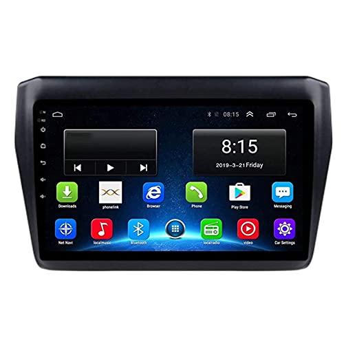 Reproductor multimedia estéreo para coche Android 8.1 para Suzuki Swift 2017-2019, pantalla táctil capacitiva de 9 pulgadas/GPS/FM/Bluetooth/Mirrorlink/SWC/cámara de visión trasera