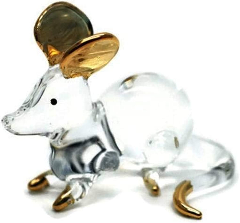 3 D Crystal Toy Gloden Rat Hand Bowl Glass Dollhouse Miniatures Decoration
