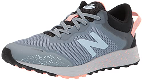 New Balance Kids' Fresh Foam Arishi V1 Trail Bungee Running Shoe, Light Cyclone/Paradise Pink, 4 Big