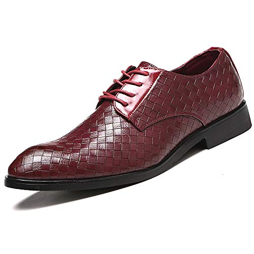 PULUSI - Zapatos de Piel para Hombre, Elegantes Zapatos de Negocios, con...