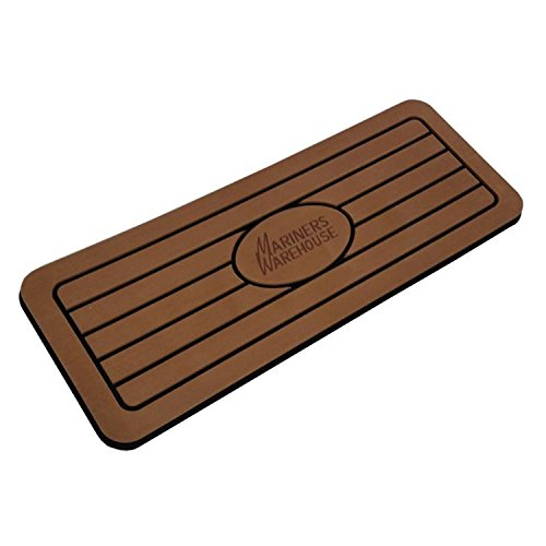 MarinersWarehouse Firm Boat MATS - Shock Absorber Helm Pads for Boats | 1 Inch Thickness Non Slip Dual Density EVA Foam Brushed Anti- Fatigue Helm Station Pad, 3M Adhesive Backing Boat Floor Mat