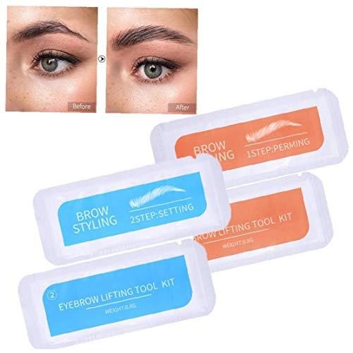 lulongyansf 2 Conjunto de laminación Cejas Cejas Kit Styling Perming Ajuste Conjunto portátil de Viaje de una Sola Vez Accessorise de la ceja del Maquillaje Styling
