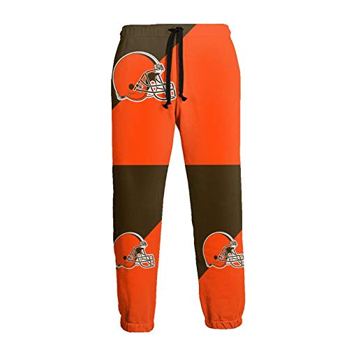 Pants Mens Fashion Athletie Pants Cleveland Football Brown Casual Joggers Streetwear Slim Fit Trousers Long Pants,Hip Hop Premium Slim Fit Track Pants - Athletic Jogger Bottom for Outdoor Xx-Large