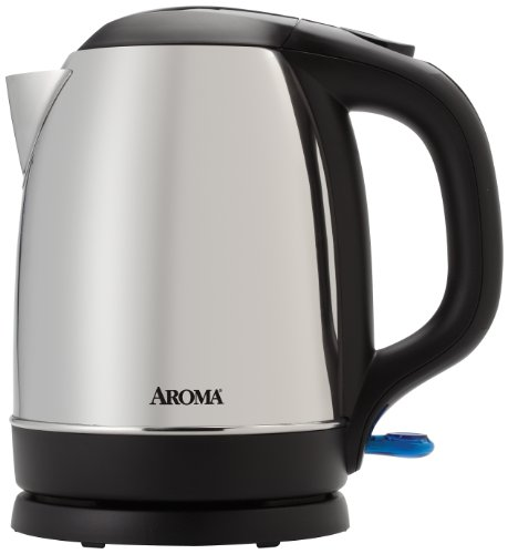 Aroma Housewares 1.7 Liter (7-Cup) Cordless Electric Water Kettle, Stainless Steel