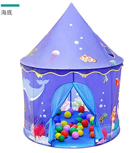 Humanity Sea World Schloss Zelt, Castle House Palace Zelt Kinderspielhaus, Schloss Indoor- und Outdoor tragbare Kinder Spielzeug-Zelt, Faltbarer Kinderspielzelt for Jungen und Mädchen