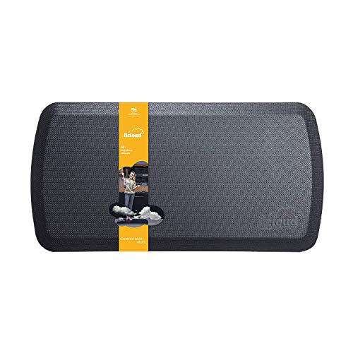 """Anti Fatigue Comfort Floor Mat By Licloud -20""""x32""""x3/4"""" Professional Grade Quality Perfect for Standing Desks, Kitchens, and Laundry - Relieve Feet, Knees, and Back Pain(Black)"""