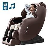 KTN Massage Chair, Zero Gravity Massage Chair, Full Body Massage Chairs Recliner with Hear Foot Roller&Bluetooth (Brown)