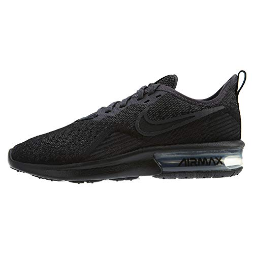 Nike Women's Air Max Sequent 4 Running Shoe, Black/Anthracite, Size 6.5