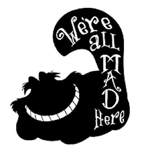 Wandtattoo Schlafzimmer Alice im Wunderland Wandtattoo Zitat Alice im Wunderland Cheshire Cat Vinyl Aufkleber Aufkleber Auto Van Bike Fenster Laptop Wandtattoo Kinder