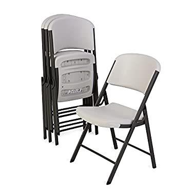 Lifetime 42803 Molded Folding Chair , Almond, Pack of 4