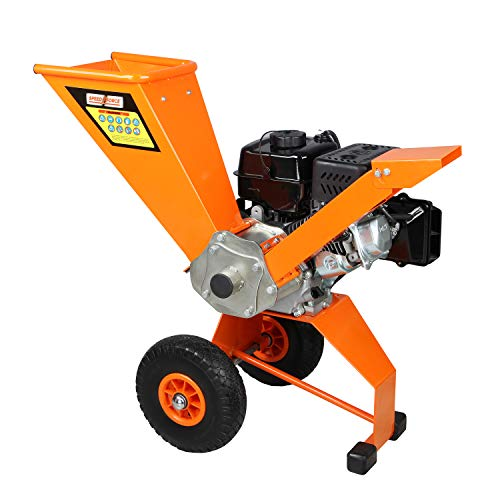 SPEED FORCE Wood Chipper Shredder 6.5 HP 208cc Gas Powered Wood Chipper 3 Inch Max Wood Diameter Heavy Duty Wood Chipper EPA/CARB Certified for Fire Prevention/Building Firebreaks