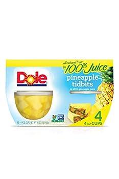 Dole Pineapple Tidbits in Juice 16 Oz  pack of 4