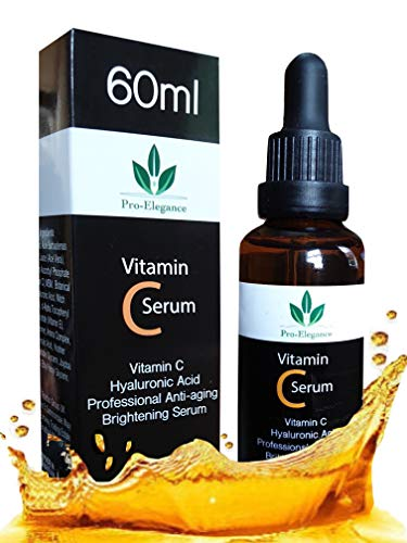 Vitamin C Serum for Face & under eyes 20% 60ml with Hyaluronic Acid Vitamin E for Anti-wrinkle Anti aging Dark Circles Fine Lines Acne Sun damaged Skin