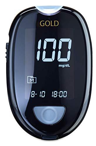 GlucoCheck GOLD Starter-Set (mg/dl) mit 110 Blutzuckerteststreifen