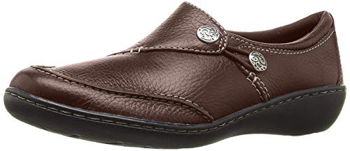 Clarks Women's Ashland Lane Q Slip-On Loafer, Redwood, 6 W US
