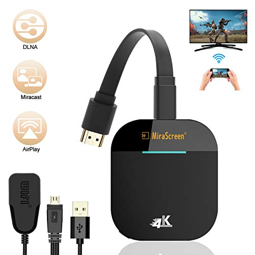 DOSNTO Wireless WiFi Display Dongle HDMI,Gibot 5GHz+2.4GHz WiFi Drahtlos Mini 4K 1080HD Wireless Display Adapter, Bildschirm teilen Anzeigeempfänger for Android Smartphone/PC/TV/Monitor/Projektor