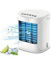 Persoonlijke luchtkoeler, mini mobiele airconditioner, 3-in-1 verdampingskoelers, luchtbevochtiger en luchtreiniger, 3 instelbare snelheden USB airconditioner, ventilator voor kamer, kantoor, thuis, slaapzaal