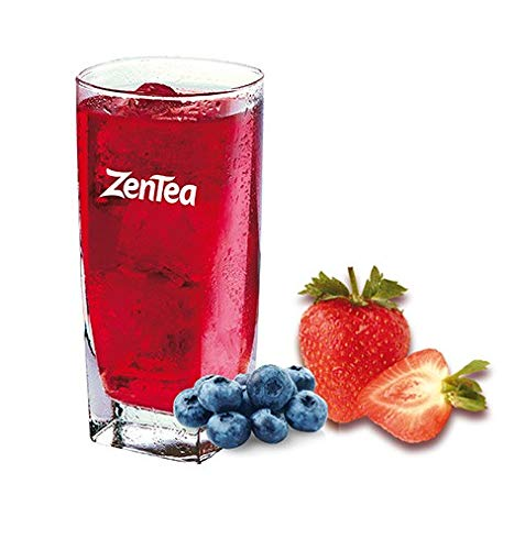 ZenTea Ice Preparado en polvo para Té Helado sabor Fresa - Arándanos, Estuche de 25 sobres monodosis