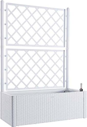 ferramenta-utensili Fioriera Rattan Bianco con spalliera lt 90 cm 100x43 h/cm 142 riserva d' Acqua