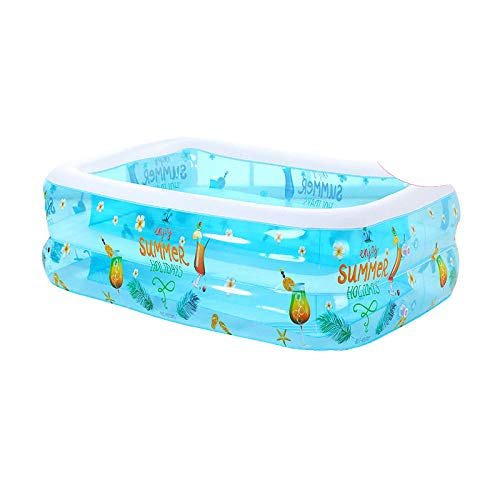 DAYUAN Piscina Infantil Hinchable Rectangular Redonda,Piscina Inflable para niños, Piscina para niños gruesa-120 * 90 * 55cm-A,Piscina Familiar Swim Center Piscina para niños