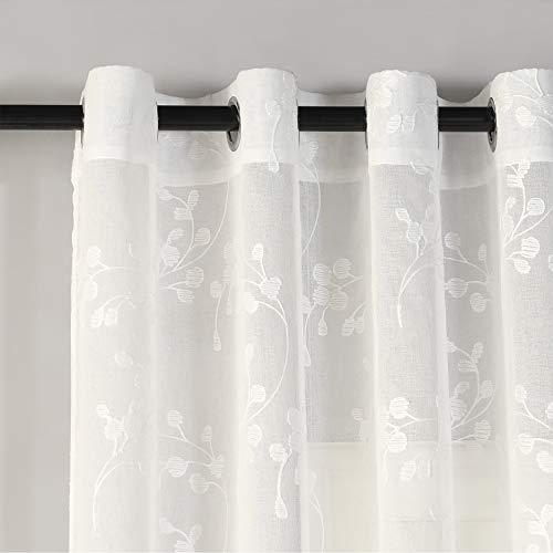 PimpamTex - Tenda Semitrasparente per Camera da letto o Soggiorno, Tenda Semitrasparente con 8...