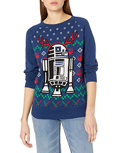 Hybrid Apparel Women's Star Wars R2d2 Holiday Sweater with Music, n, L