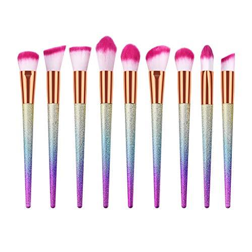 Junjie Femmes cosmétiques brosses Dames de Mode 9/10/15/16/24 Pcs Haut de Gamme Gommage effilé Rose Brush Set avec poignée en Plastique Fondation Brush