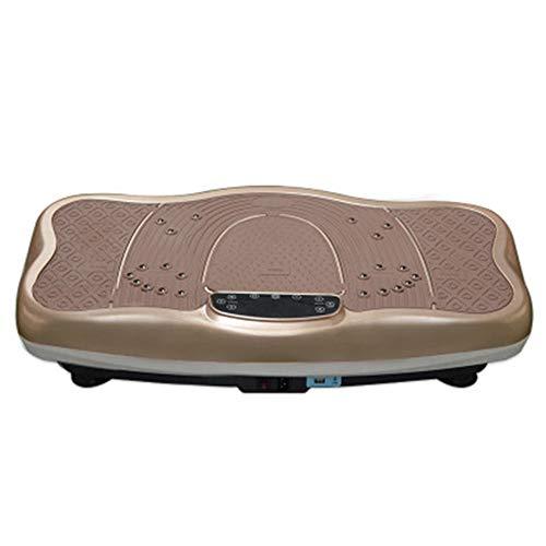 Lpinvin Plataformas Vibratorias Gimnasio Power Plate Vibraciones Placa de Fitness máquina vibradora con LED Una pérdida de Grasa de Tono en su casa (Color : Marrón, Size : 76x43x15cm)