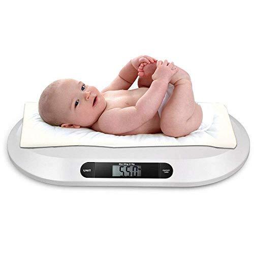 Balanza digital para bebés | Báscula electrónica digital para bebés LCD, Balanza para mascotas 20KG / 44LBS | Báscula infantil, peso del bebé (Kg/Lbs/St)