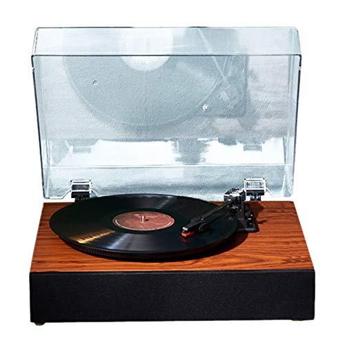 JFF Luxus Plattenspieler Plattenspieler Vinyl Plattenspieler Mit Lautsprechern Plattenspieler Für Schallplatten 3-Gang Vintage Plattenspieler Vinyl Player Musik Vinyl Plattenspieler