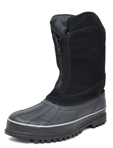 DREAM PAIRS Men's Viking-1 Black Insulated Waterproof Winter Snow Boots Size 8 M US