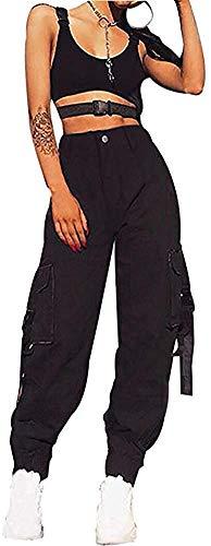 Loalirando Pantalone Largo Donna Harem Pants Donna Pantaloni Sportivi da Donna Vita Alta Pantaloni Cargo