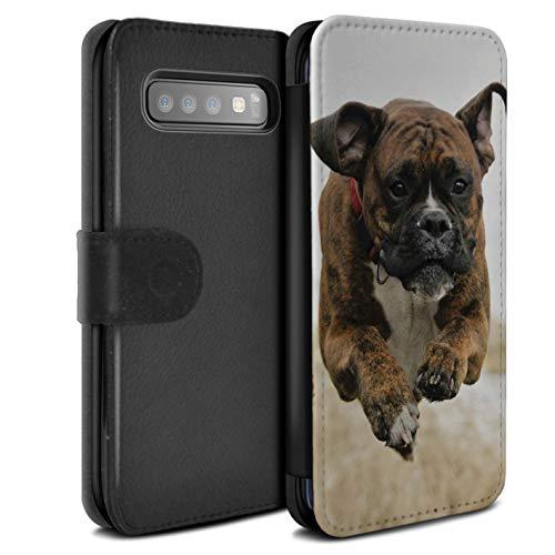 eSwish beschermhoes van PU-leer voor Samsung Galaxy S10 Plus-serie: boxershorts voor rassen/hond