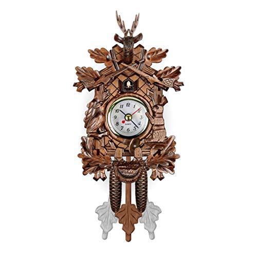 Chou Madera Antigua Hora del Reloj koo Aves Glöe Reloj Despertador Swing de la decoración del ar Reaurant