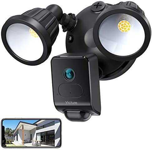 Victure 1080P AI Floodlight Camera HD Security Camera Outdoor with Motion Activated Detection product image