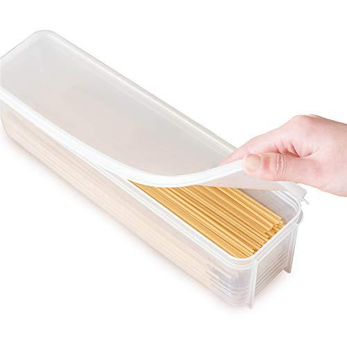 HomeDejavu Spaghetti-Box Pasta Box Plastik Lebensmittel Vorratsgläser Behälter Vorratsdose Box von Spaghetti Nudeln Aufbewahrungsbox Küche Kühlschrank