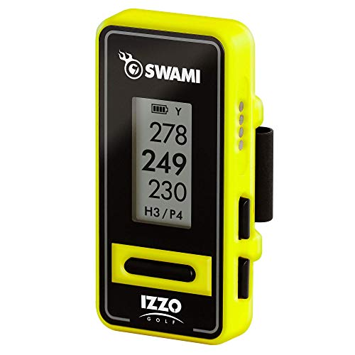 Izzo Golf Swami Clip-On Golf GPS With Voice Feature, Yellow
