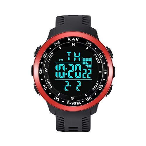 Moda Relojes Hombre Elegante Accesorio 2020 Mejor Regalo,Reloj ElectróNico A Prueba De Agua Deportivo De Alta Gama MultifuncióN 50M PráCtico Y Conveniente