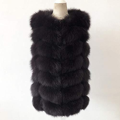 SHOUBANG Mantel Natürliche Echtpelz Weste Mantel Kurze Ärmellose Winter Warme Naturpelz Weste Lederjacke Mantel Ledermantel