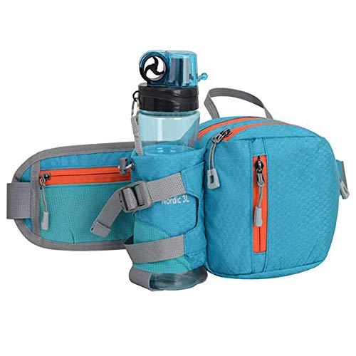 Riñonera Impermeable, Adecuada para Teléfonos Móviles De 6.0 Pulgadas, Cinturón Ajustable, Adecuada para Correr, Caminar, Viajar, Hacer Senderismo, Deportes Al Aire Libre (Color : Blue)