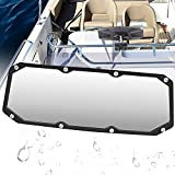 """FRG Boat Rear View Mirror (4"""" x 11""""),Wide-Angle Convex Marine Rearview Mirror with 0.4-1.2 inch Windshield Frames, Compatible with Ski Boat Pontoon Boat Water Skiing Watercraft Surfing"""