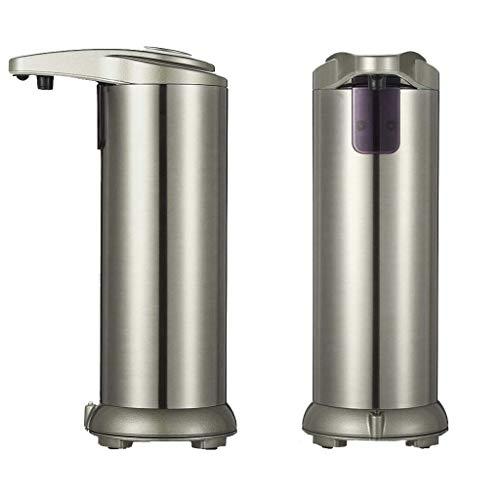 None 250 ml Seifenspender Automatisch, Seifenspender Edelstahl Sensor Infrarot Seifenspender Berührungslos Flüssigseifenspender mit Wasserdichter Basis für Küchen und Badezimmer