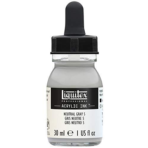Liquitex Tinta acrílica Ink Profesional Frasco 30 ml, Gris Neutro 5