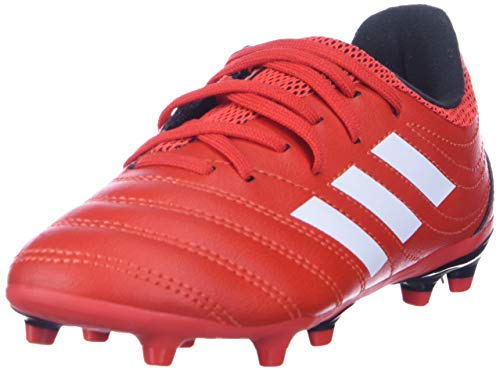 adidas Kids Unisex's Copa 20.3 Firm Ground Boots Soccer Shoe, Active red/FTWR White/core Black, 2.5 M US Little Kid
