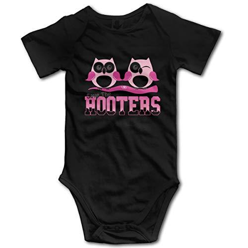 U are Friends Save The Hooters Newborn Girl Boys Enfants Combi-Short pour bébé à Manches Courtes pour bébé(0-3M,Noir)