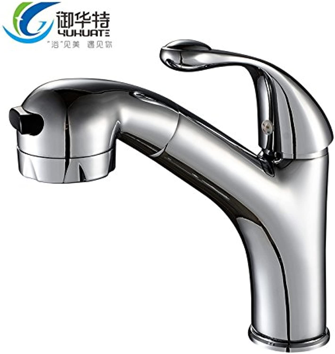 ETERNAL QUALITY Bathroom Sink Basin Tap Brass Mixer Tap Washroom Mixer Faucet Hot and cold basin water taps for the basin faucet single handle single hole basin wash it w