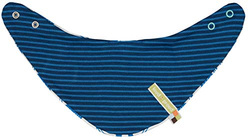 Loud + Proud Reversible Scarf Organic Cotton Echarpe, Bleu (Ultramarin ul), Unique (Taille Fabricant: OS) Bébé garçon
