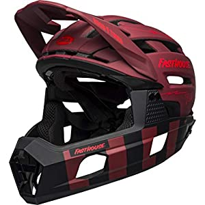 BELL Super Air R MIPS Adult Mountain Bike Helmet - Fasthouse Matte Red/Black (2021), Large (58-62 cm)